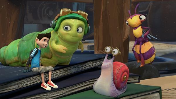 Die Insectibles erinnern sich an die Erlebnisse des Sommers.    Rechte: KiKA/One Animation PTE LTD.