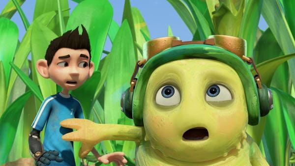 Chowser sieht eine Raupe, die ihn umhaut. | Rechte: KiKA/One Animation PTE LTD.