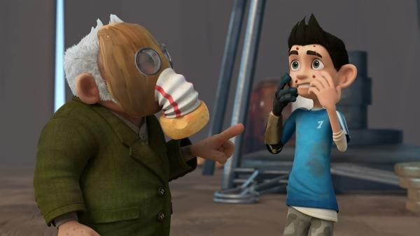 Oh weia! Zak und Gramps haben sich mit der Tanagram-Grippe angesteckt.   | Rechte: KiKA/One Animation PTE LTD.