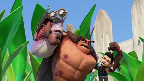 Hye kommt Syd und Zak auf die Schliche.  | Rechte: KiKA/One Animation PTE LTD.
