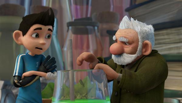 Gramps tüftelt an einer neuen Erfindung.  | Rechte: KiKA/One Animation PTE LTD.