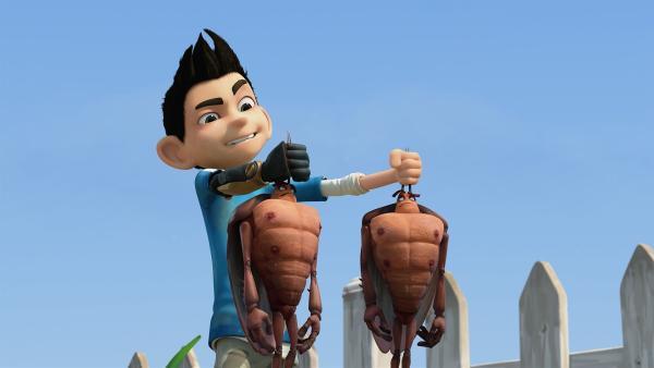 Hye und Lo sind nun im Vergleich zu Zak ganz schön klein.  | Rechte: KiKA/One Animation PTE LTD.
