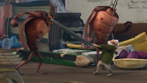 Hye und Lo sorgen für Chaos in der Scheune. | Rechte: KiKA/One Animation PTE LTD.