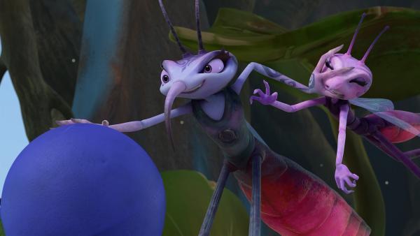 Natürlich steckt Adilla hinter dem ferngesteuerten Bohrer. | Rechte: KiKA/One Animation PTE LTD.