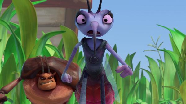 Adilla gibt ihre Tarnung auf und muss  fliehen. | Rechte: KiKA/One Animation PTE LTD.