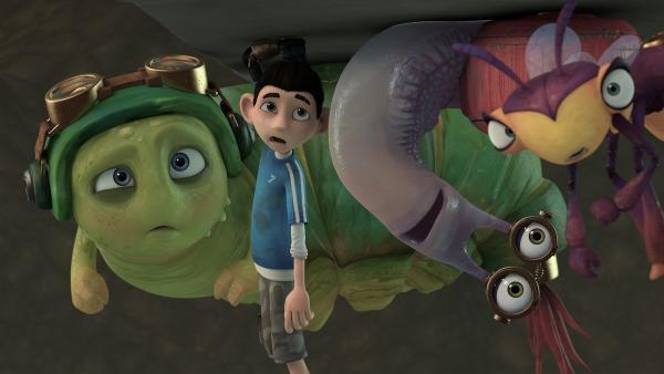 Die Insectibles können nur zuschauen, was da passiert. | Rechte: KiKA/One Animation PTE LTD.