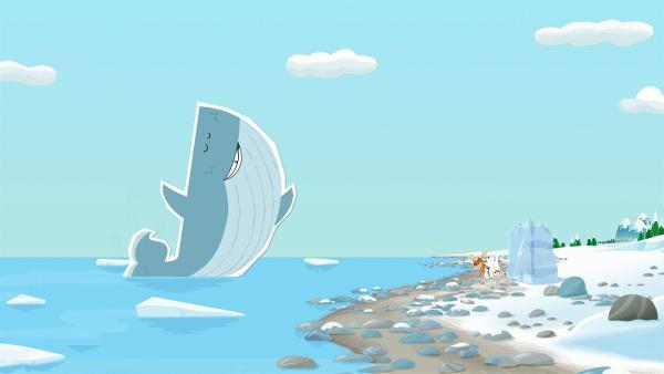 Wiebke ist der Meinung, dass sie ein sehr gutes Modell für eine Eis-Statue sein könnte.  Inui und ihre Freunde überlegen, was man da machen kann. | Rechte: ZDF/JEP Animation