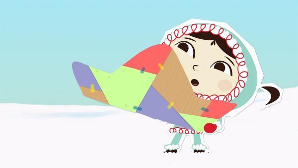 Inui hat von der Waldame Wiebke einen mexikanischen Sombrero-Hut geschenkt bekommen. Der macht allerdings sehr komische Geräusche.   Rechte: ZDF und JEP-Animation GmbH