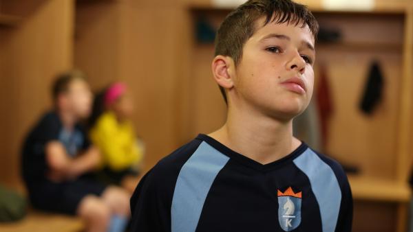 Jamie (Louis Dunn) steht vor dem Turnierfinale unter großem Druck.   Rechte: WDR/Short Form (JJI) Ltd