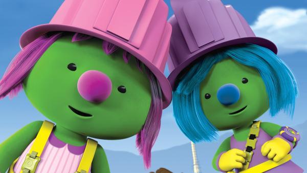 Molly und Daisy freuen sich über den Erfolg ihrer Mission. | Rechte: KiKA/The Jim Henson Company/DHX Media