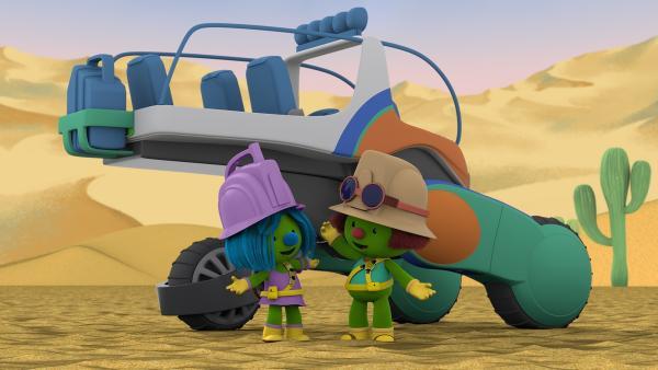 Zippa begrüßt Daisy in der Wüste. | Rechte: KiKA/The Jim Henson Company/DHX Media