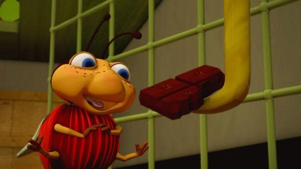 Lu fühlt sich wie im Paradies: Die Speisekammer ist voller Leckereien! Beim Naschen kennt der kleine Käfer keine Vorsicht. | Rechte: ZDF/Scopas Medien AG