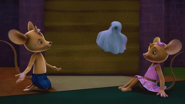 Moment mal! Jo und Naya glauben, die Gespensterstimme gut zu kennen. Aber wem könnte sie bloß gehören?   Rechte: ZDF/Scopas Medien AG
