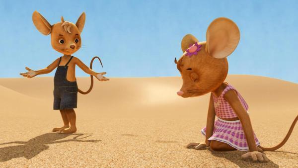 Jo und Naya sind ziellos in der Wüste. | Rechte: ZDF