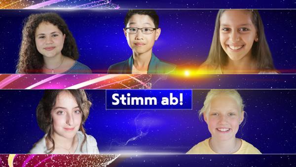 """Eine Jury hat Emilie, Yike, Anjali, Pauline, Marta für den Vorentscheid des """"Junior ESC"""" bei KiKA ausgewählt.   Rechte: Henning Malz; KiKA"""