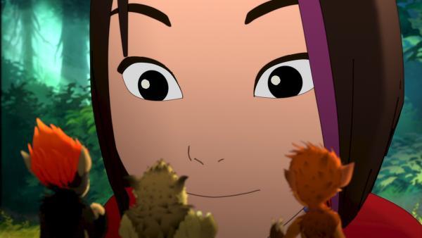 Mia ist die einzige, die die Kobolde zu sehen bekommt. | Rechte: ZDF/Flying Bark Productions