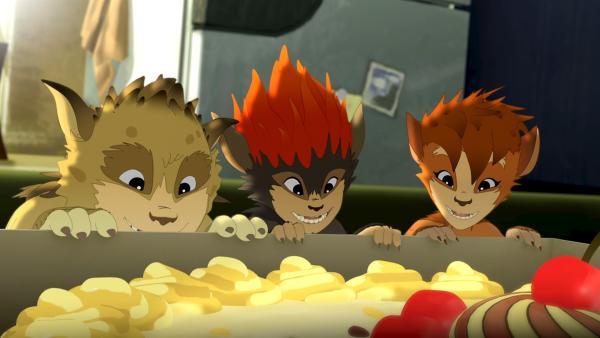 Kekse sind die Lieblingsspeise unserer Kobolde. | Rechte: ZDF/Flying Bark Productions