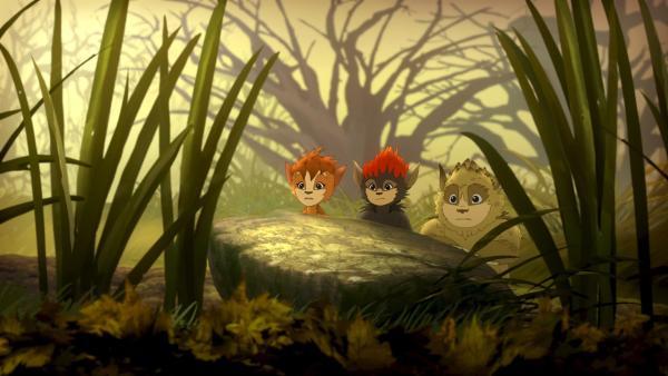 Die Kobolde auf ihrem Beobachtungsposten | Rechte: ZDF/Flying Bark Productions