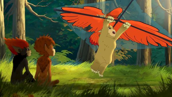 Fliegen wollte Siebenpunkt eigentlich nicht. | Rechte: ZDF/Flying Bark Productions