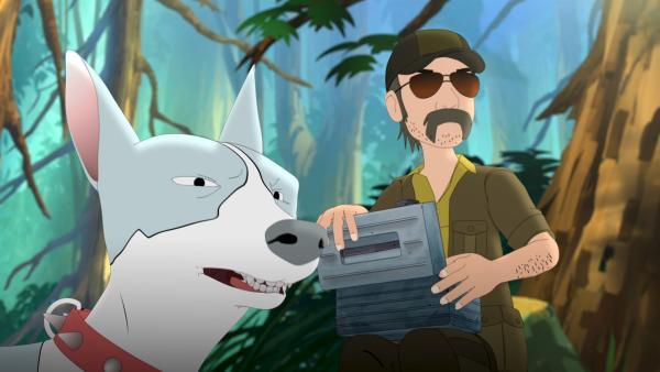 Jäger und Hund haben viel vor im Wald der Kobolde. | Rechte: ZDF/Flying Bark Productions