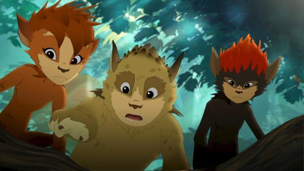 Argwöhnisch verfolgen die Kobolde, was heute im Wald vor sich geht. | Rechte: ZDF/Flying Bark Productions