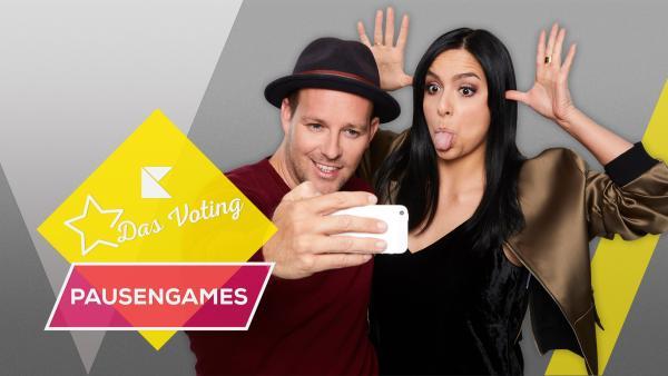 Ben und Jess präsentieren die KiKA LIVE Pausengames - Votingshow | Rechte: KiKA