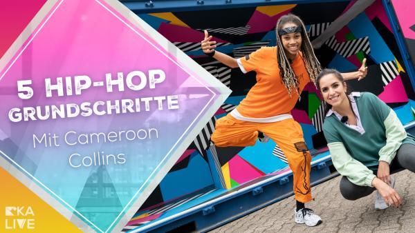 Hip-Hop Grundschritte mit Cameroon Collins | Rechte: KiKA / Simon Schneider