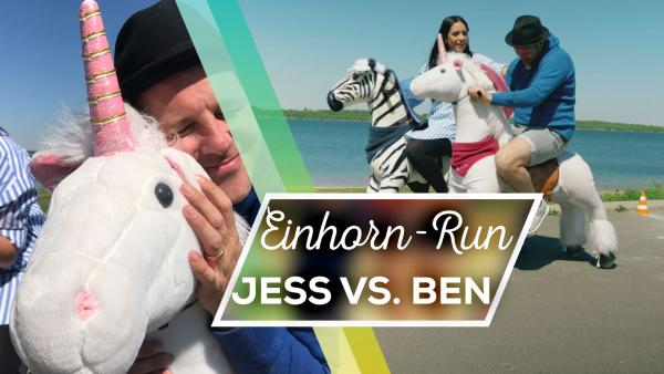 Jess vs. Ben: Einhorn-Run | Rechte: KiKA/ Sabine Krätzschmar