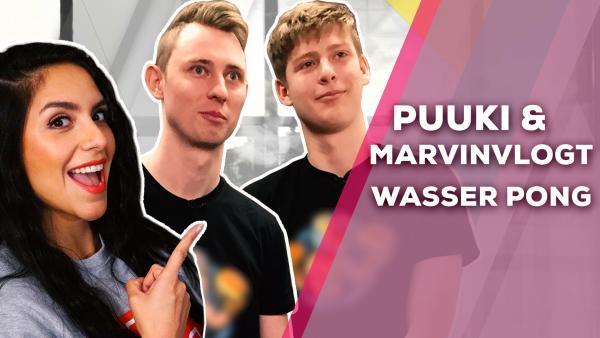 Puuki und MarvinVlogt - Wasser Pong | Rechte: KiKA