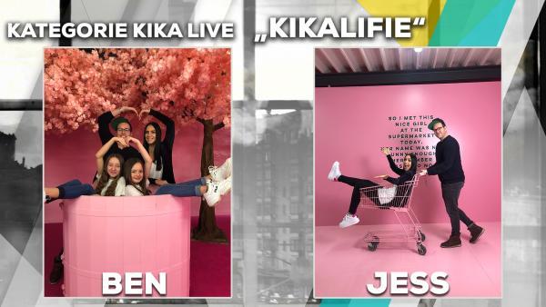 Jess vs. Ben Fotochallenge - KiKAlifie | Rechte: KiKA