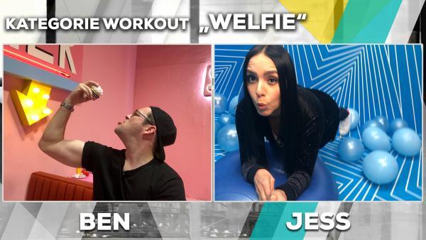 Jess vs. Ben Fotochallenge - Welfie | Rechte: KiKA