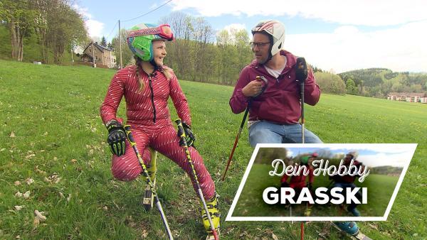 Dein Hobby: Grasski | Rechte: KiKA/ Stephanie Paersch