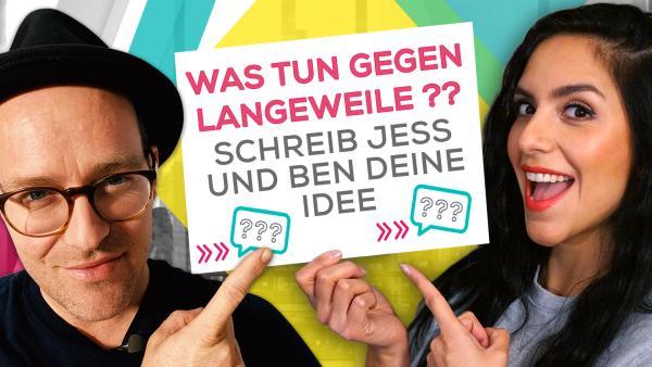 Ben und Jess suchen deine Vorschläge | Rechte: KiKA