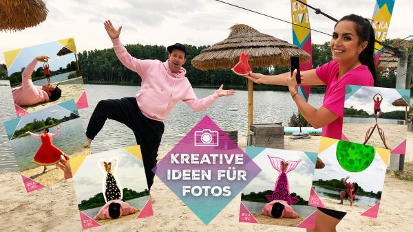 Jess und Ben haben kreative Ideen für Fotos | Rechte: KiKA