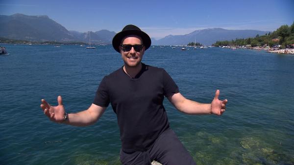 KiKA LIVE-Moderator Ben am Gardsee | Rechte: KiKA