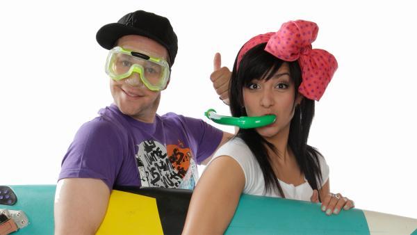 KiKA LIVE-Moderatoren Ben und Jess