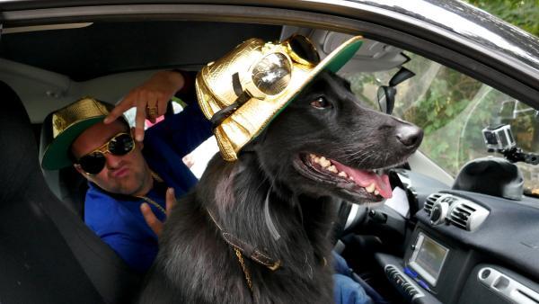 Best Buddies - am Welthundetag stellt Ben zum ersten Mal seinen besten Freund vor: Otto, einen Labrador-Border Collie-Mischling. | Rechte: KiKA/Stefanie Jung