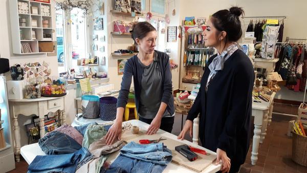 Jess trifft Anne, eine Upcyclerin aus Dresden, die viele Ideen hat, um aus Altem einfach Neues zu machen. | Rechte: KiKA/Grit Häfer