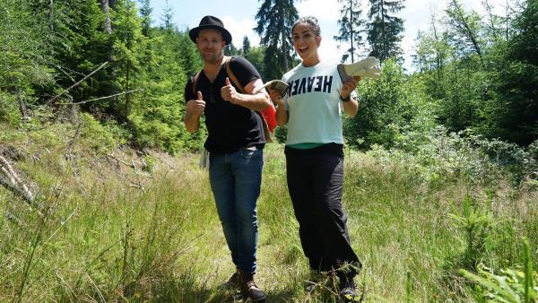 Jess und Ben machen zwei Tage lang Pause vom hektischen Alltag und statten der Waldschule des Bergwaldprojekts im Fichtelgebirge einen abenteuerlichen Besuch ab.  | Rechte: KiKA/Franziska Gruber