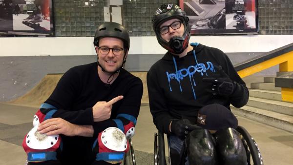Ben trifft David Lebuser. Er ist Wheelchair Skating-Weltmeister und der beste Deutsche in dieser Disziplin. | Rechte: KiKA/Nicolette Maurer