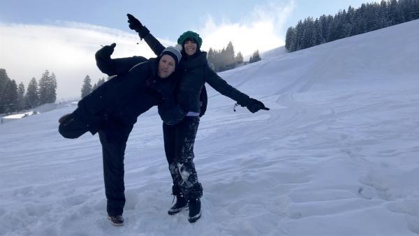 Ben und Jess bei den Winter-Battles 2018 | Rechte: KiKA/Sabine Krätzschmar