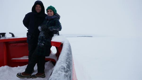 Ben und Jess begeben sich heute auf hohe (zugefrorene) See. | Rechte: KiKA/Stefanie Jung