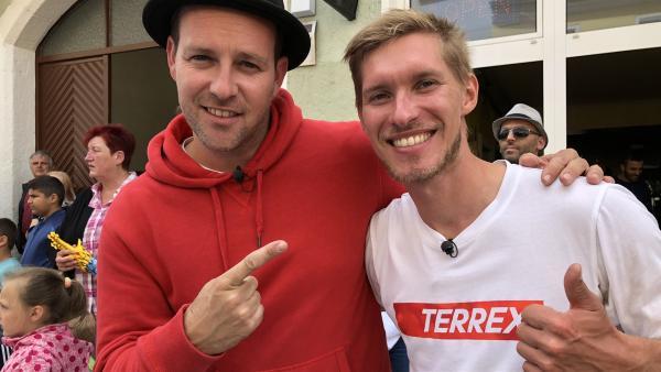 Ben trifft Slackliner Lukas Irmler | Rechte: KiKA/Björn Pollok