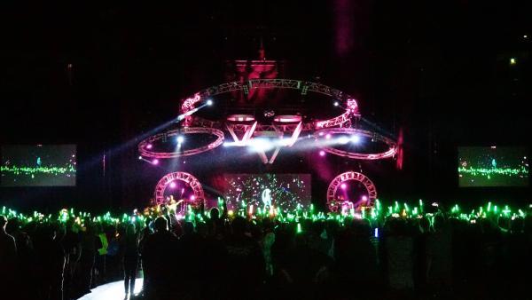 Beim Konzert sieht man nur das Hologramm von Hatsune Miku. | Rechte: KiKA/Franziska Gruber