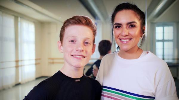 Jess trifft Lucas, für den ein Leben ohne Tanzen keine Option wäre. | Rechte: KiKA/Sabine Krätzschmar