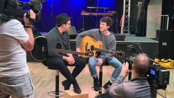 Vielleicht schreiben Ben und Alec gemeinsam den nächsten Hit? | Rechte: KiKA/Alex Huth