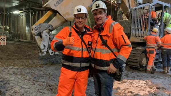 Ben begibt sich unter die Erde und packt mit an beim Bau der U-Bahn in Berlin. | Rechte: KiKA