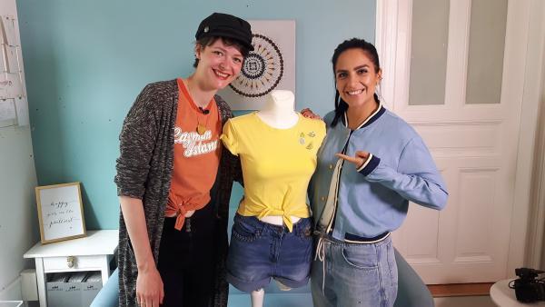 Was kann man aus alten Klamotten machen? Jess trifft Laura, eine Bloggerin und Designerin aus Leipzig. Mit ihr steht Upcycling auf dem Programm! | Rechte: KiKA/Grit Häfner