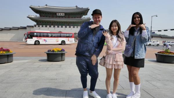 Jess und Ben gehen zusammen mit der Lifestyle-YouTuberin Jeniffer Kim auf Entdeckungstour durch die südkoreanische Hauptstadt Seoul. | Rechte: KiKA/Stefanie Jung