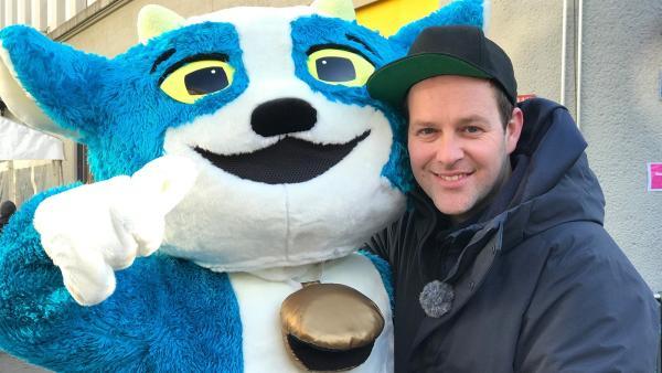 Maskottchen Yodli und Ben bei den Olympischen Winter-Jugendspielen im schweizerischen Lausanne | Rechte: KiKA/Rozhyar Zolfaghari